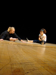 Kristen Gurbach Jacobson works with Amal Abbas in the Metropolis Outreach program.