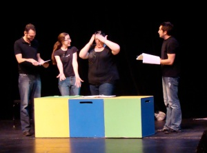 Actors perform students' plays during Write to the Spotlight 2012