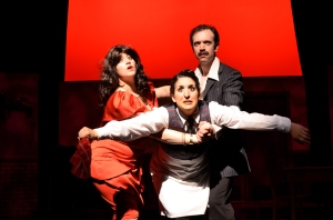 Amanda Bloom, Amy Malouf and Greg Foster in Five Course Love